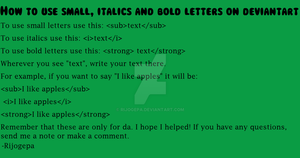 How To Use Small Italics And Bold Letters On Da by Rijogepa
