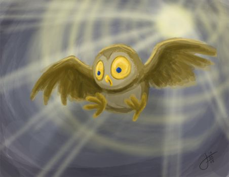 Owltober 29 Vortex Owl by killintyme