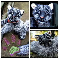 TBL handmade poseable WolfLeamur by TouchedbyLavender