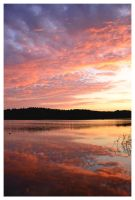 Sunset Lake by evaPM