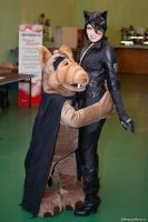 Catwoman and Alf by felicia2809