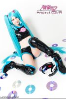 Hatsune Miku cosplay - Space channel 39 by Maysis