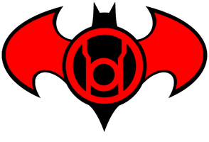 Red Lantern Batman Logo idea by KalEl7