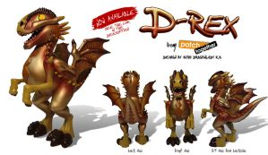 D-REX FIGURE - now available by suzidragonlady