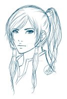 Korra Sketch by Peach-Cobbler
