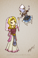 .:Trade:. WW Zelda and Saniya by Anilede
