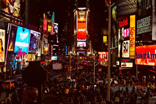 Times Square by Night by P0EP0E