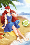C: A day at the beach by Hiyirii