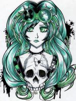 Hole in the Skull by KimiCookie
