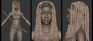 Michonne Wip WD 01 by HugoBuarque