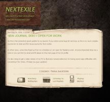 NextExile Journal Skin by nextexile