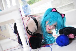 Hatsune Miku : Cat Girl by LolaInProgress