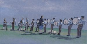 Lining Up the Drum Line by ashley-f