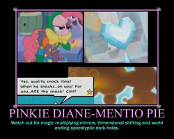 Motivational Pinkie Dianementio Pie by DarkonShadows