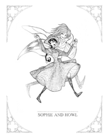 Sophie and howl by CottonValent