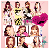 Pack PNG 2NE1 by GAJMEditions