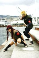 Minato and Kushina-Fight by SenninUzumaki