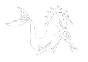 Hippocampus Lineart by In-The-Distance