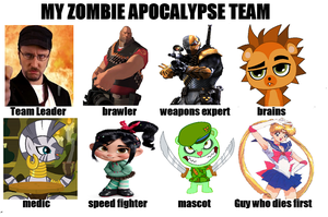 My zombie apocalypse team by ronmart12