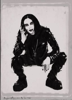 Dani Filth Drawing by CherieFairy1