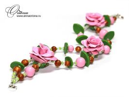 "Bracelet ""Roses"" by OrionaJewelry"