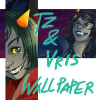 TZ and Vris Wallpaper by PenWinter