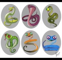 Snake sketches. by Amisgaudi