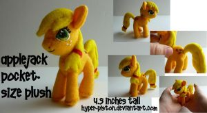 Applejack Pocket-size Plush by Hyper-piston
