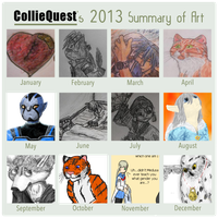2013 summary of art by Colliequest