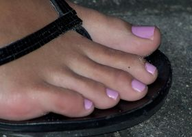Long Toes in Lilac by Feetatjoes