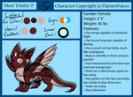 .:Trinity the Otter Dragon Ref:. by FlamesVoices