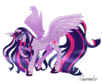 Alicorn Twilight Sparkle by linamomoko