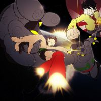 Astro Boy Vs. Gigantor by Cricketto
