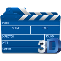 3D Movies Folder Icon by king-om