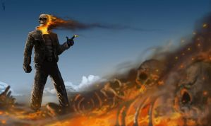 gunslinger Ghost Rider by EdwardDelandreArt
