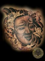 Oni Flower 1 session by 2Face-Tattoo