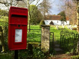 Post Box in a Country Village by Druidstone
