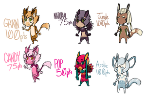 Adoptables: batch one by cannibal-crunch