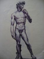 david in ballpoint by Flrmprtrix