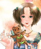 Girl and bear by ginty212