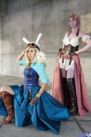 Steampunk Adventure Time Fionna and Bubblegum by Shiya