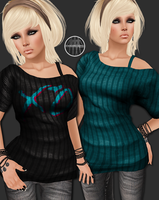 AngelRED Couture - Mesh Hannah Top by BloodAppleKiss