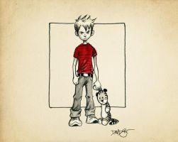 Calvin and Hobbes by Disezno