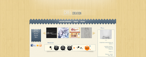 My portfolio design by Crelcreation