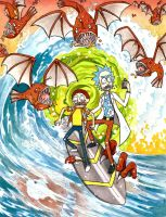 Rick and Morty by Fred-Weasley