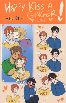 Happy 'Kiss a Ginger Day'! by Hirorinchan