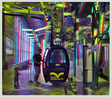 Teleferic of Thale 3D ::: Anaglyph DRi Stereoscopy by zour