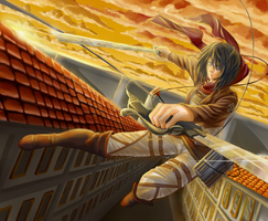 Mikasa Ackerman by Tico-Illustrations