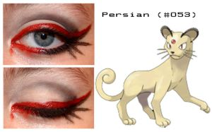 Pokemakeup 053 Persian by nazzara