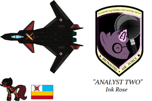 Bronalysis Air Force: Ink Rose's Cf-1X Blood Rose by BusterBuizel